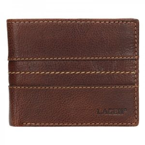 Pánská kožená peněženka Lagen Andor – hnědá