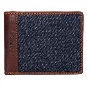 Pánská peněženka Lagen Sander – hnědo-modrá
