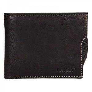Pánská kožená peněženka Lagen Elias – tmavě hnědá