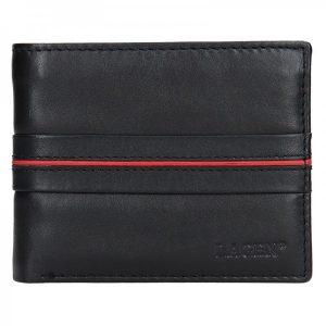 Pánská kožená peněženka Lagen Jonas – černo-červená