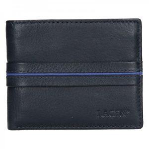 Pánská kožená peněženka Lagen Jonas – modrá