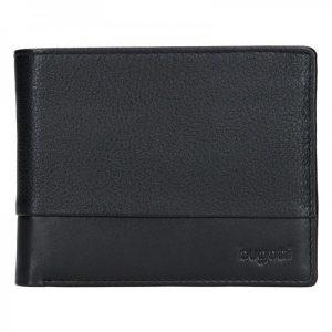 Pánská kožená peněženka Bugatti Kurt – černá