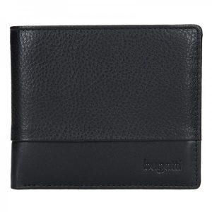 Pánská kožená peněženka Bugatti Gustav – černá