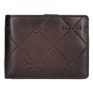 Pánská kožená peněženka Bugatti Curt – tmavě hnědá