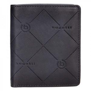 Pánská kožená peněženka Bugatti Heinrich – černo-šedá
