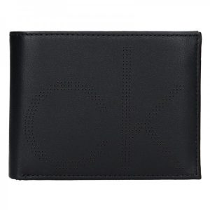 Pánská kožená peněženka Calvin Klein Pietro – černá