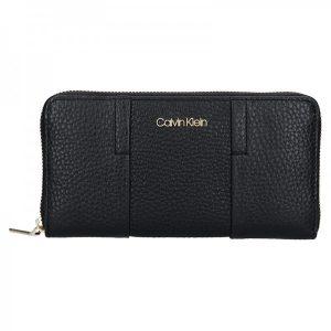 Dámská kožená peněženka Calvin Klein Alessia – černá