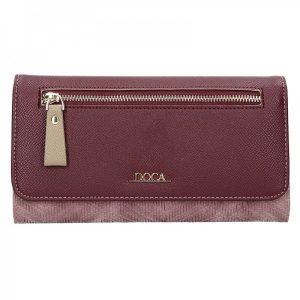 Dámská peněženka Doca 65141 – vínovo-fialová