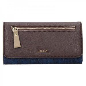 Dámská peněženka Doca 65140 – modro–hnědá