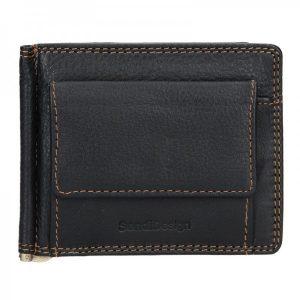 Pánská kožená dolarovka SendiDesign Bruno – černá