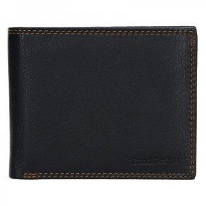 Dámská kožená peněženka SendiDesign Milan – černá