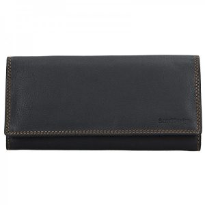 Dámská kožená peněženka SendiDesign Helena – černá