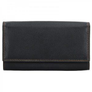 Dámská kožená peněženka SendiDesign Alena – černá