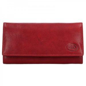 Dámská kožená peněženka DD Anekta Eliška – červená