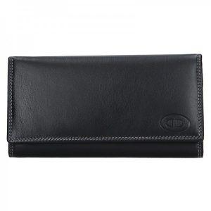 Dámská kožená peněženka DD Anekta Eliška – černá