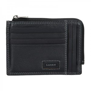 Pánská kožená slim peněženka Lagen Rudolf – černá