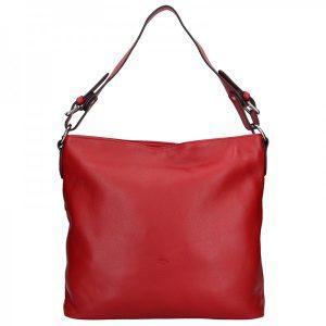 Elegantní dámská kožená kabelka Katana Olma – červená