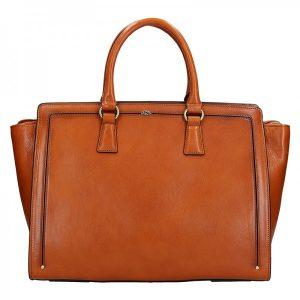 Elegantní dámská kožená kabelka Katana Nicol – světle hnědá