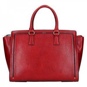 Elegantní dámská kožená kabelka Katana Nicol – tmavě červená