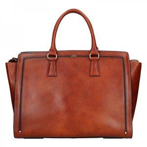 Elegantní dámská kožená kabelka Katana Nicol – hnědá