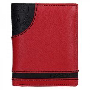 Pánská kožená peněženka Lagen Brandon – černo-červená