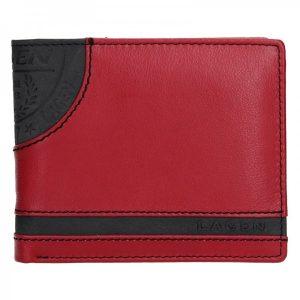 Pánská kožená peněženka Lagen Elliot – černo-červená