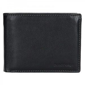 Pánská kožená peněženka SendiDesign Carlos – černá