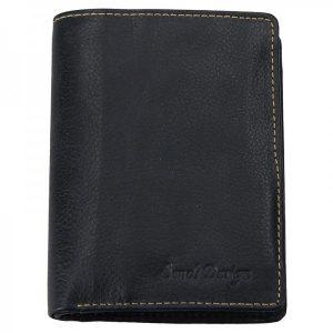 Pánská kožená peněženka SendiDesign Boris – černá