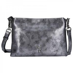 Trendy dámská crossbody kabelka Suri Frei Nina – stříbrná