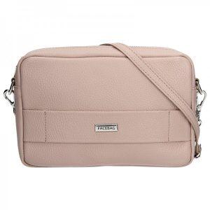Trendy dámská kožená crossbody kabelka Facebag Nina – tělová