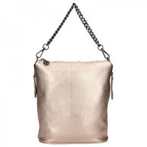 Dámská kožená kabelka Facebag Marta – zlatá