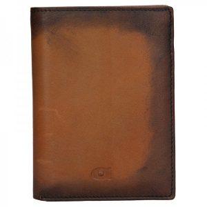 Pánská kožená peněženka Daag Alive P01 – koňak