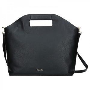 Kožená Dámská kabelka Calvin Klein Grand Sac Tote – černá