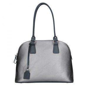 Dámská kožená kabelka Facebag Antonela – stříbrná