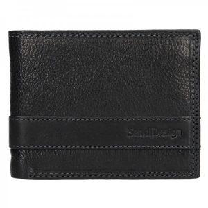 Panská kožená slim peněženka SendiDesign Rafael – černá