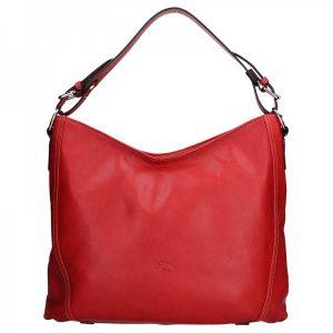 Elegantní dámská kožená kabelka Katana Nicol – červená