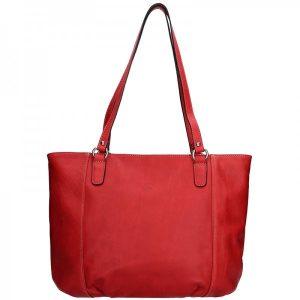 Elegantní dámská kožená kabelka Katana Apolen – červená