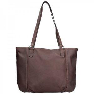 Elegantní dámská kožená kabelka Katana Apolen – tmavě hnědá