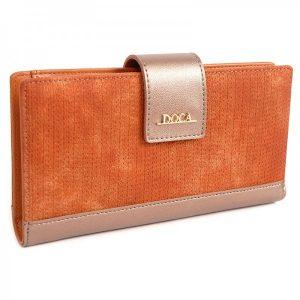 Dámská peněženka Doca 64972 – oranžová