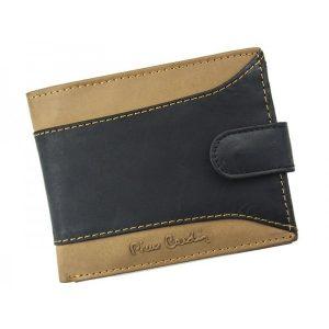 Pánská kožená peněženka Pierre Cardin Julien – černo-hnědá