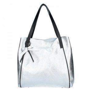Dámská kožená kabelka Facebag Helena – stříbrná