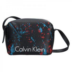 Dámská crossbody kabelka Calvin Klein Small Splatter – černá