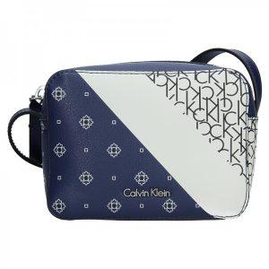 Dámská crossbody kabelka Calvin Klein Small Splatter – modrá
