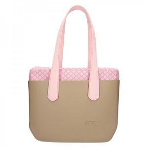 Dámská trendy kabelka Ju'sto J-Wide Ela – béžovo-růžová