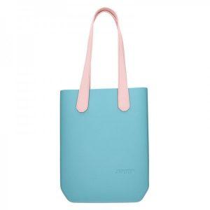 Dámská trendy kabelka Ju'sto J-High – tyrkysovo-růžová