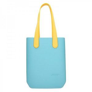 Dámská trendy kabelka Ju'sto J-High – tyrkysovo-žlutá