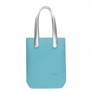 Dámská trendy kabelka Ju'sto J-High – tyrkysovo-stříbrná
