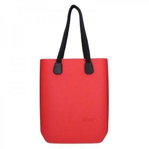 Dámská trendy kabelka Ju'sto J-High Nil – červeno-černá