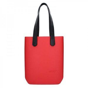 Dámská trendy kabelka Ju'sto J-High – červeno-černá