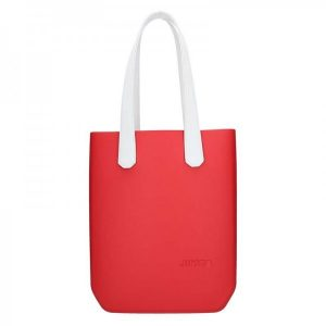 Dámská trendy kabelka Ju'sto J-High – červeno-bílá